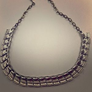 Vintage silver linked necklace.